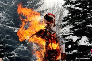 сожжение чучела на масленницу