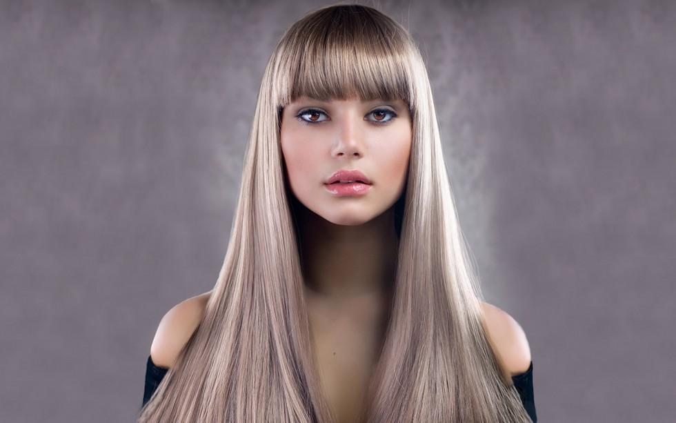 Фото стрижек с челкой русые волосы