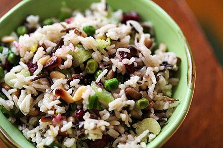 коричневый рис и нут