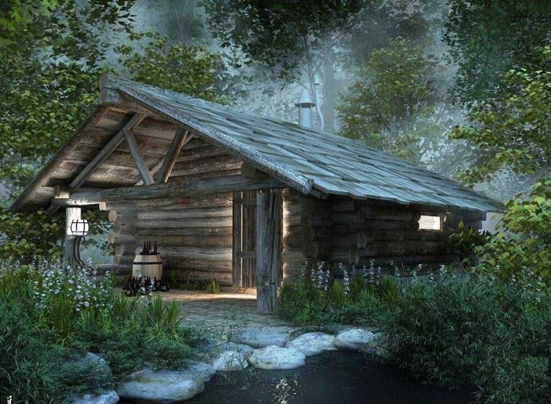 баня лес сказка